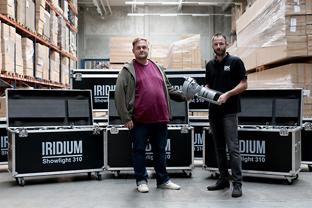 Mildner Veranstaltungsservice investiert in 200 IRIDIUM Showlight 310