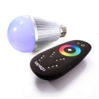 LM LED E27 8W RGB+W RF inkl. Fernbedienung