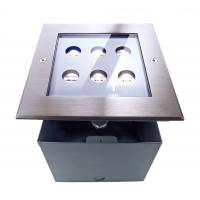 LED ground built-in lamps 230V 6x1W CW 45° IP67