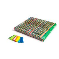 Slowfall confetti rectangles 55x17mm - Multicolour 1kg