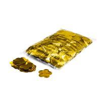 Metallic confetti flowers Ø 55mm - Gold