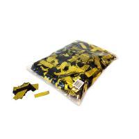 Metallic confetti rectangles 55x17mm Bicolour Black-Gold