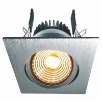 LED COB Downlight schwenkbar 8W WW gebürstet