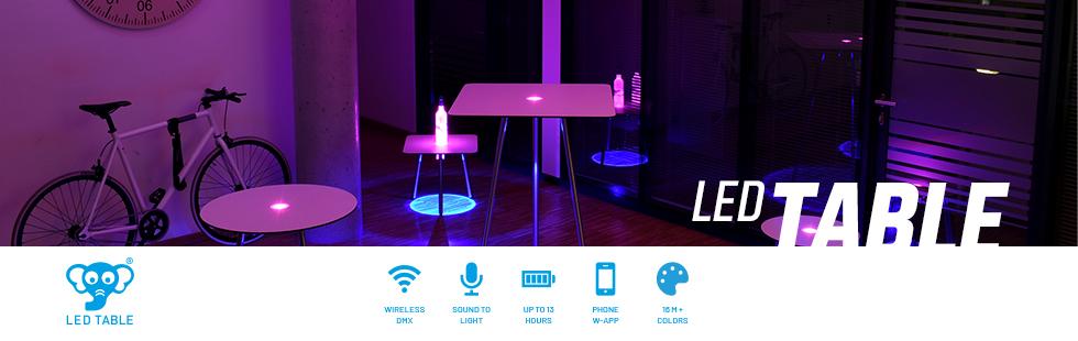 Headerbanner LED Table