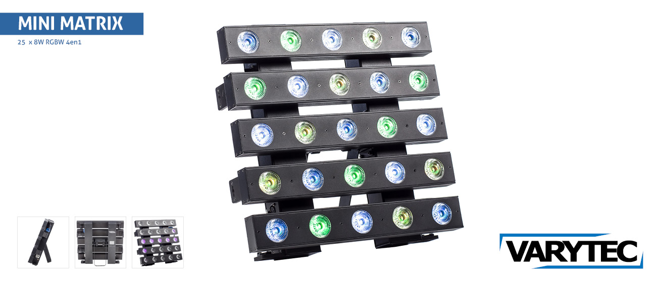 LED Mini Matrix 5 x 5  25 x 8Watt  R G B W 4en1