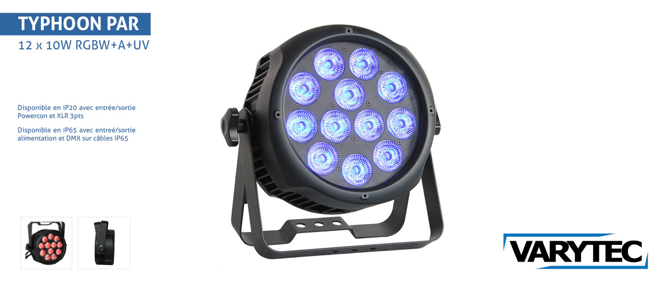 LED Typhoon PAR Outdoor IP65 12 x 10W RGBWA+UV   15°